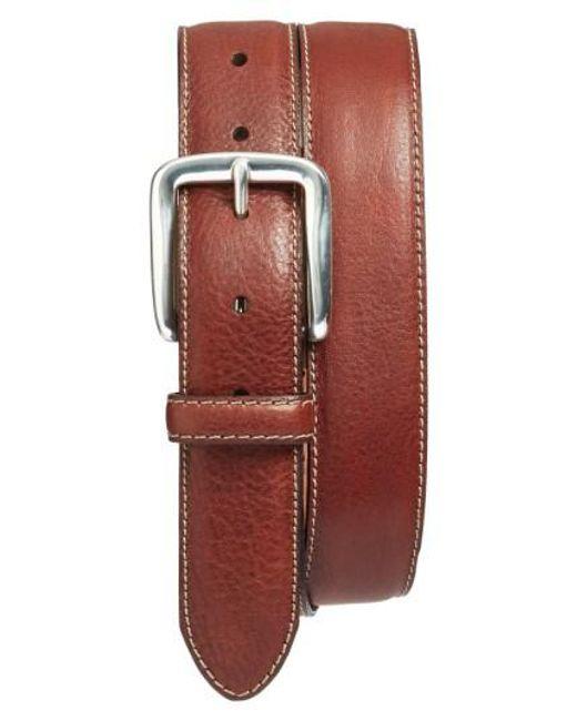 Bosca | Brown Washed Leather Belt | Lyst