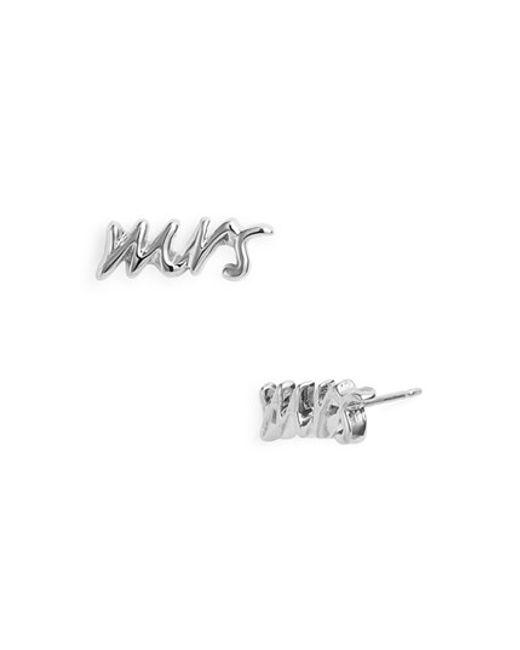 kate spade new york   Metallic 'say Yes - Mrs' Stud Earrings   Lyst