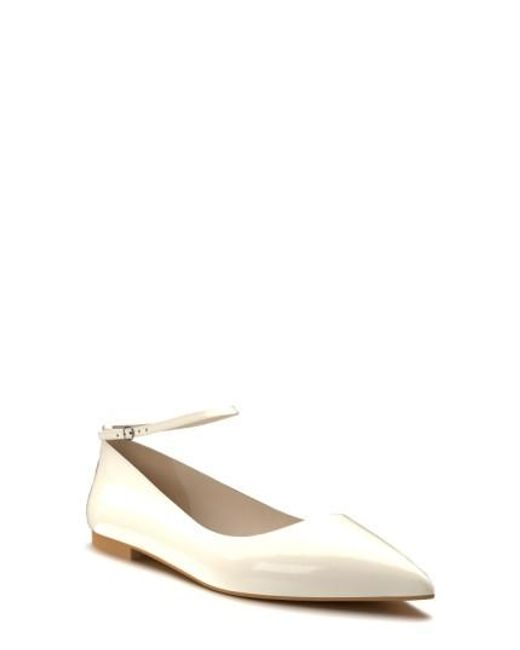 Shoes Of Prey | Blue Ankle Strap Flat | Lyst