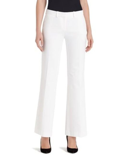 Lafayette 148 New York | White 'downtown' Flare Leg Pants | Lyst