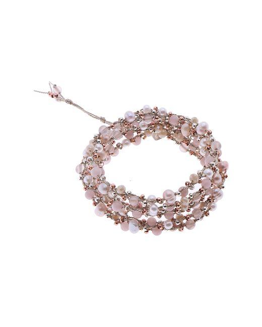 Nakamol - Pink Stone Wrap Bracelet - Lyst