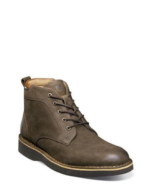 Florsheim | Brown Navigator Plain Toe Boot for Men | Lyst