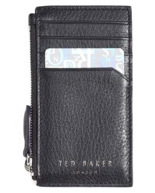 Ted Baker | Black 'longzip' Card & Coin Case | Lyst