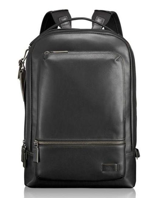 Tumi | Black 'harrison - Bates' Leather Backpack | Lyst