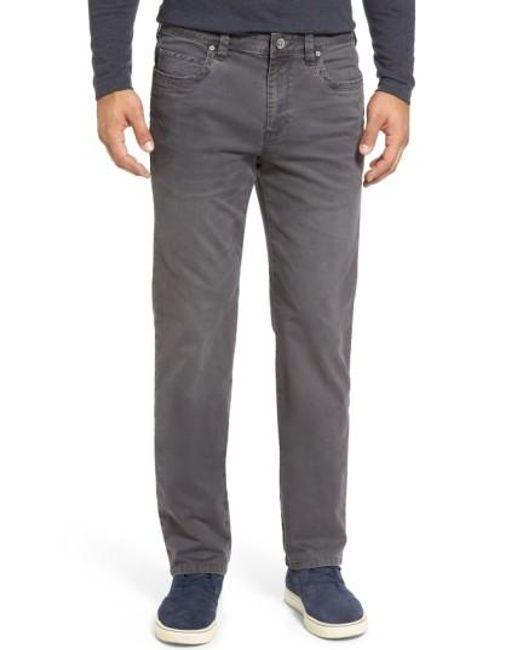 Tommy Bahama | Gray 'santiago' Washed Twill Pants for Men | Lyst