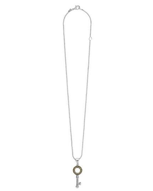 Lagos | Metallic 'beloved' Key Pendant Necklace | Lyst