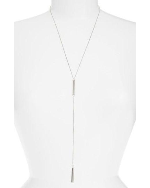 Kendra Scott   Metallic 'shelton' Y-necklace   Lyst