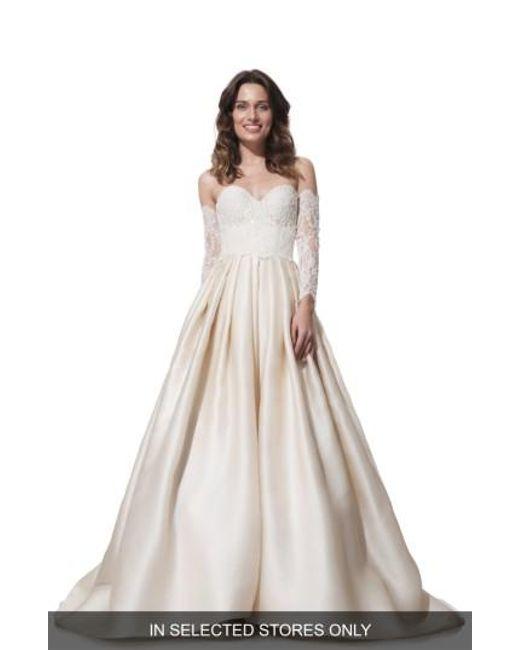 Olia Zavozina | Natural 'clara' Lace & Silk Organza Ballgown Dress | Lyst