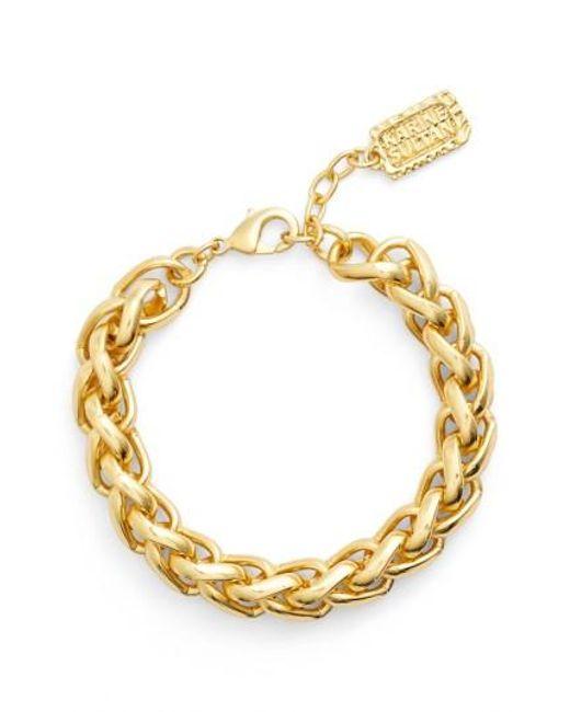 Karine Sultan | Metallic Braided Link Bracelet | Lyst