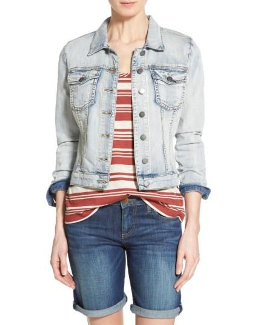 Kut From The Kloth | Blue 'helena' Denim Jacket | Lyst