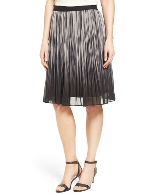 t tahari ombre a line skirt in gray black lyst