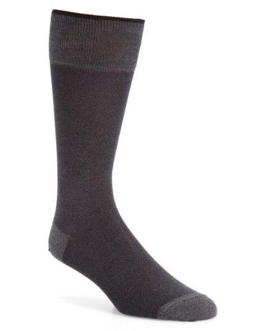Calibrate   Gray Solid Socks for Men   Lyst