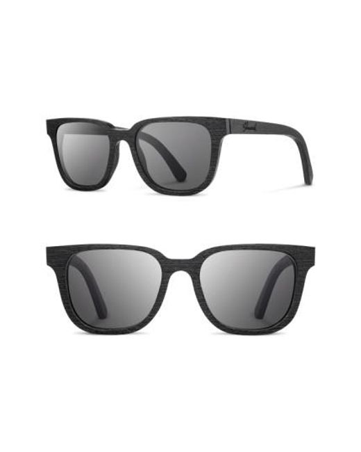Shwood | Black 'prescott' 52mm Wood Sunglasses | Lyst