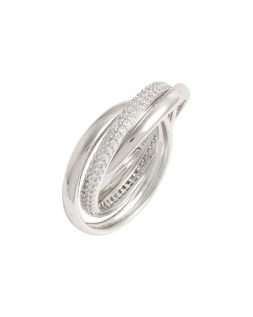 Nadri | Metallic Trinity Pave Ring | Lyst