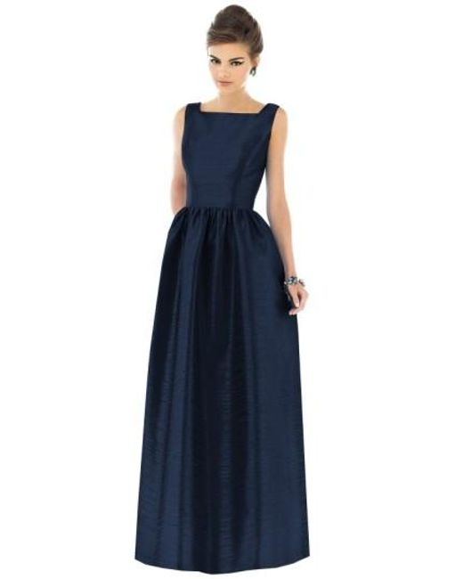 Alfred Sung | Blue Square-Neck Dupioni Full-Length Dress | Lyst