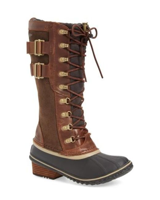 Sorel | Brown 'conquest Carly Ii' Waterproof Mid Calf Boot | Lyst