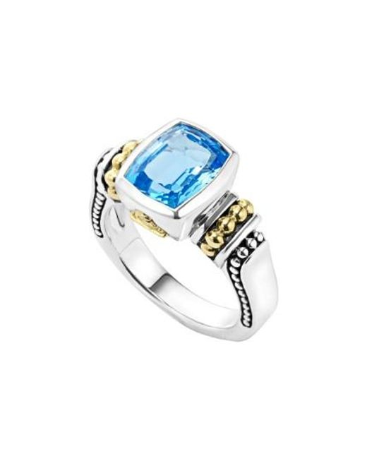 Lagos | Blue 'caviar Color' Small Semiprecious Stone Ring | Lyst