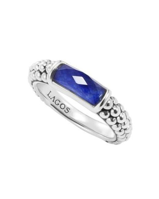 Lagos | Blue 'maya' Stackable Caviar Ring | Lyst