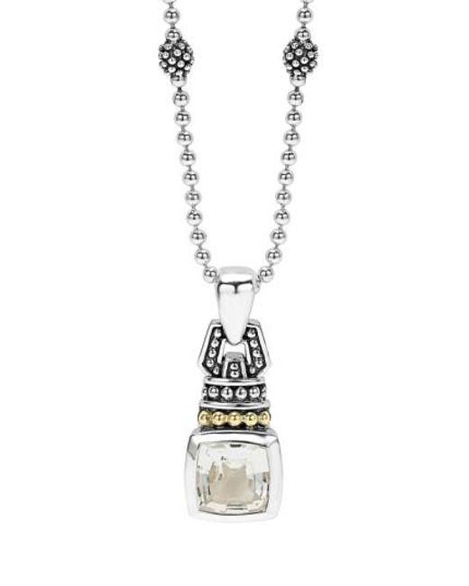 Lagos   Metallic 'caviar Color' Pendant Necklace   Lyst