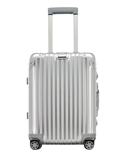rimowa 39 topas 39 cabin multiwheel carry on metallic 22 inch in transparent silver lyst. Black Bedroom Furniture Sets. Home Design Ideas
