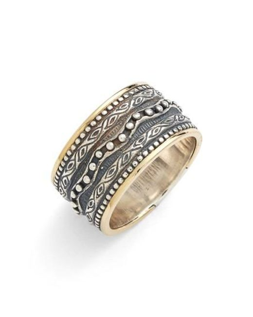 Konstantino | Metallic 'hebe' Etched Band Ring | Lyst