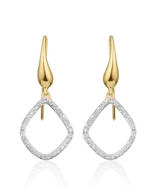 Monica Vinader | Metallic 'riva Kite' Diamond Drop Earrings | Lyst