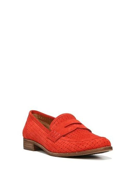 Sarto | Red 'jolette' Penny Loafer | Lyst