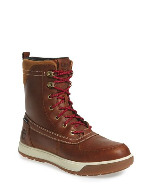 timberland tenmile snow boot in brown for lyst