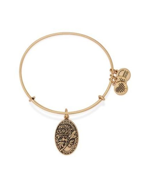 ALEX AND ANI | Metallic 'i Love You Mom' Expandable Wire Bangle | Lyst