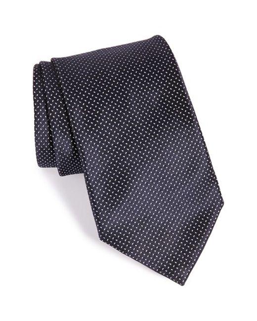 Armani | Blue Fleck Print Silk Tie for Men | Lyst