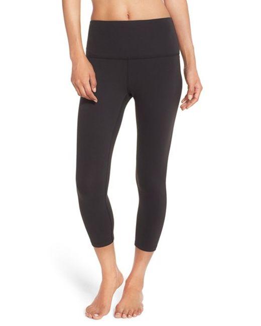 Beyond Yoga High Waist Capri Leggings In Black