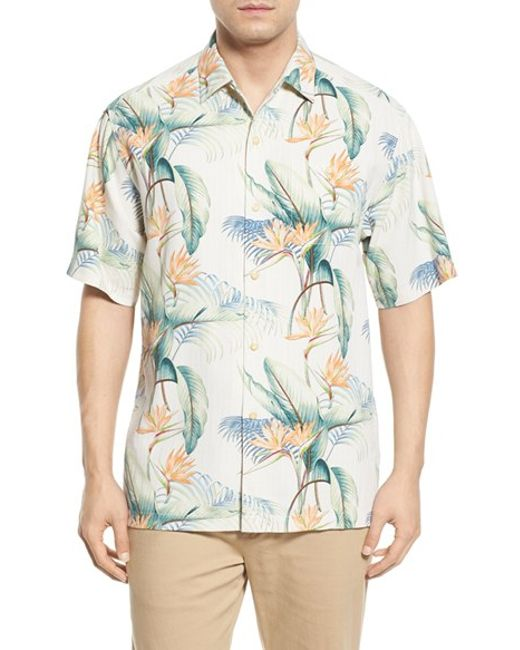 Tommy bahama 39 cool palm and collected 39 print short sleeve for Tommy bahama short sleeve silk camp shirt