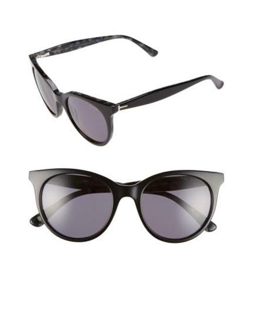 Ted Baker | Black 51mm Cat Eye Sunglasses | Lyst