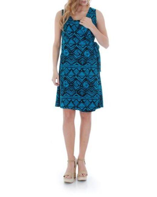 Everly Grey | Black Tania Stretch-Jersey Maternity Dress | Lyst