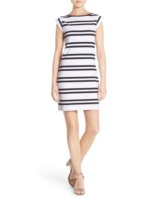 French Connection 39 Born On The Beach 39 Stripe T Shirt Dress