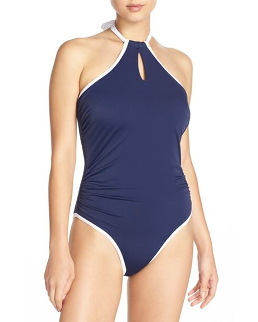 Freya in The Navy Underwire One piece Swimsuit In Blue Lyst