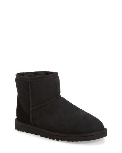 Ugg | Black Classic Mini Ankle Boots | Lyst