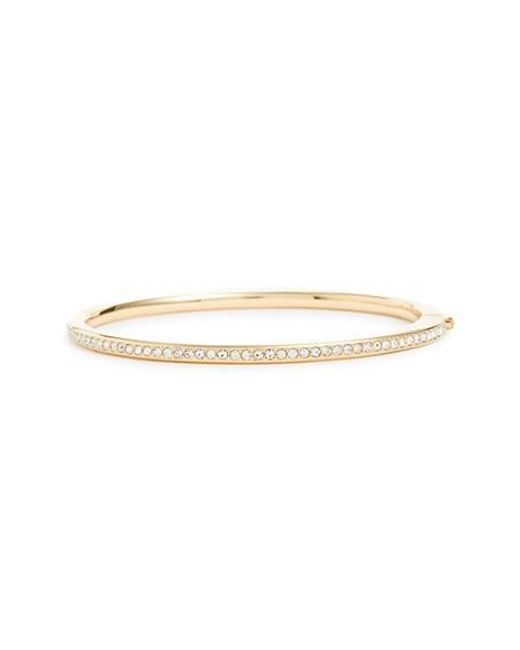 Nadri | Metallic Channel Set Crystal Hinged Bangle | Lyst