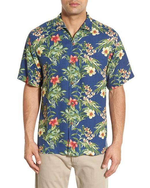 Tommy bahama 39 breakaway blooms 39 regular fit short sleeve for Tommy bahama short sleeve silk camp shirt