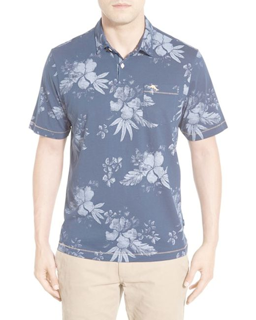 Tommy bahama 39 bali impressions 39 cotton polo shirt in for Tommy bahama polo shirts on sale