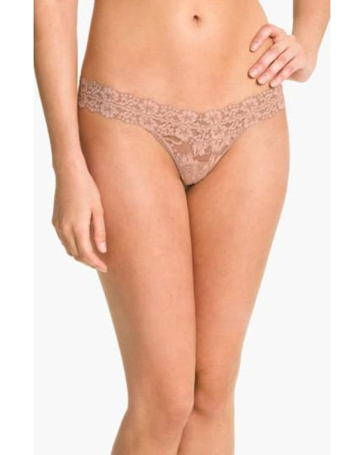 Hanky Panky | Natural Cross Dyed Low Rise Thong | Lyst