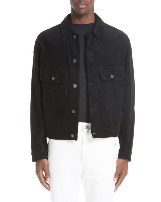 Lemaire - Black Corduroy Utility Jacket for Men - Lyst