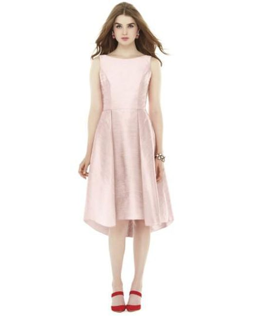 Alfred Sung | White Bow Back Dupioni Fit & Flare Midi Dress | Lyst