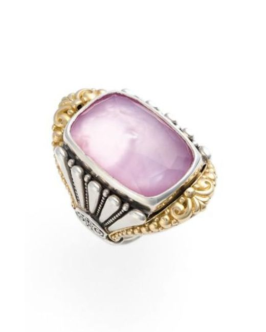 Konstantino | Pink 'iliada' Large Doublet Ring | Lyst