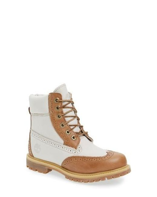 Timberland | Brown Brogue Top Shelf Collection Waterproof Boot | Lyst