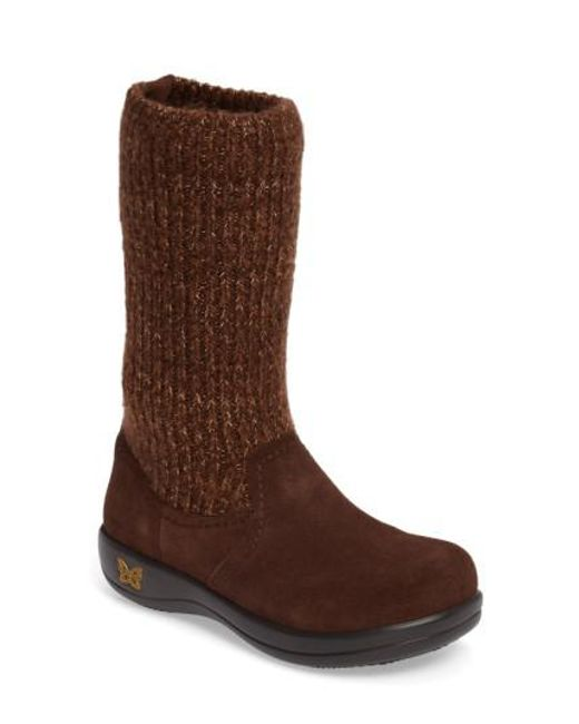 Alegria | Brown Juneau Leather Boot | Lyst