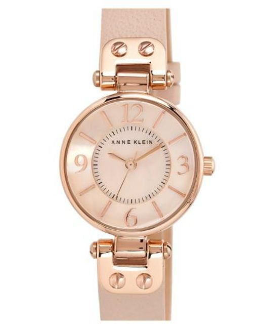 Anne Klein | Pink Hinge Case Watch | Lyst