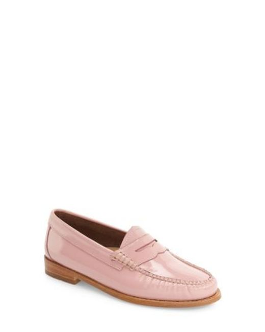 G.H. Bass & Co. | Pink 'Whitney' Loafer | Lyst