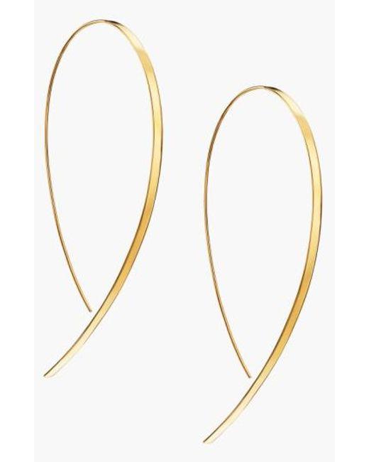 Lana Jewelry | Metallic 'hooked On Hoop' Large Flat Earrings | Lyst