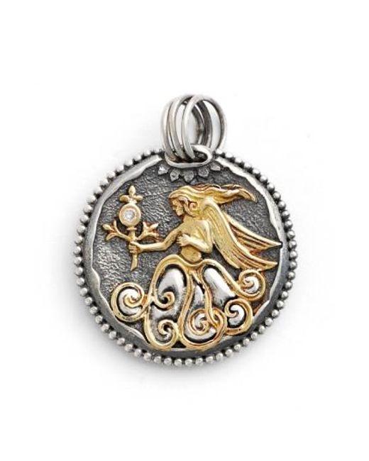 Konstantino   Metallic Zodiac Pendant   Lyst